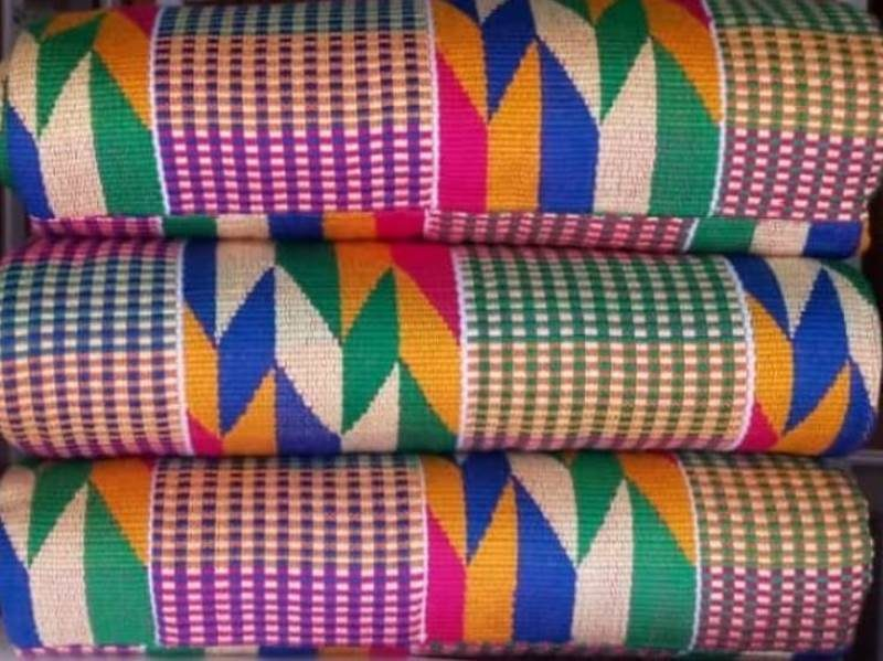 Mixed colours kente 26