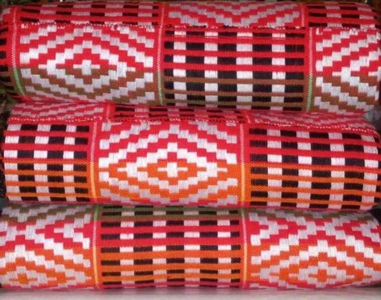 Pink_Black_Orange kente